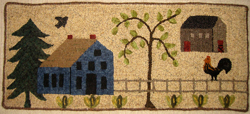 Traditional Rug Hooking Designs by Sally Van Nuys of Folk 'n' Fiber
