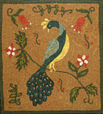 Fraktur Bird with Tulips