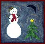 Snowman at Night kit and Pattern