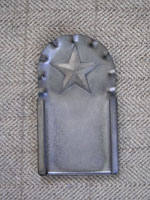 Fluted Star Tin Frame